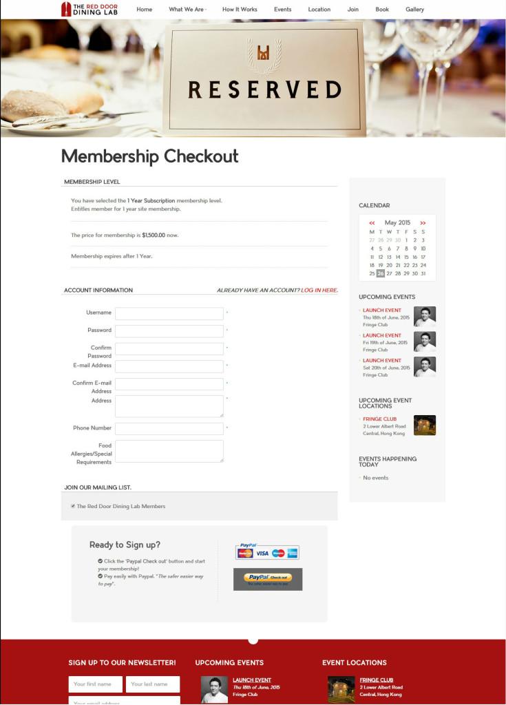 RDDL-Membership Checkout